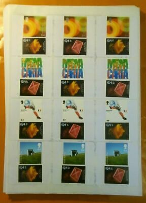 2nd Class Large 83p Genuine Mint Stamps On Self Adhesive Labels Volume Discounts