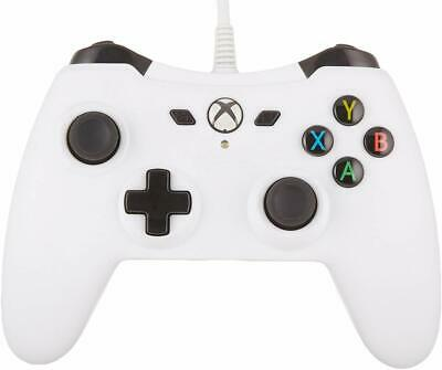 AmazonBasics Xbox One Wired Controller - 9.8 Foot USB Cable - White - Version 2