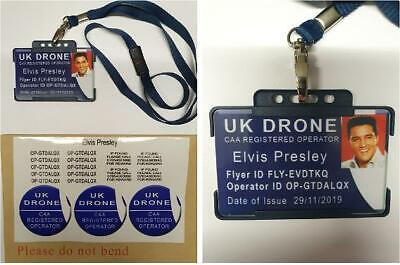 Drone Operator registration Stickers & If found reward stickers + FREE ID CARD