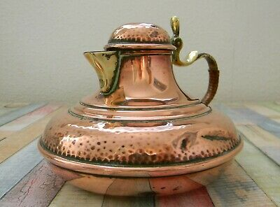 Early 20th Century Arts & Crafts Copper & Brass Metal Flagon By F&R Fischer