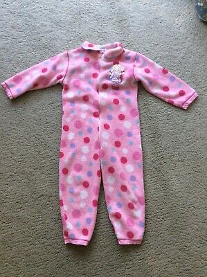 Pink Spotty Mothercare Sleepsuit Age 5-6 Years