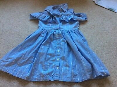 Marks and Spencer Blue and White Striped Dress Age 10-11 Years