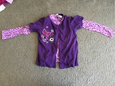 Marks and Spencer Autograph Purple Cardigan and Top Set Age 6-7
