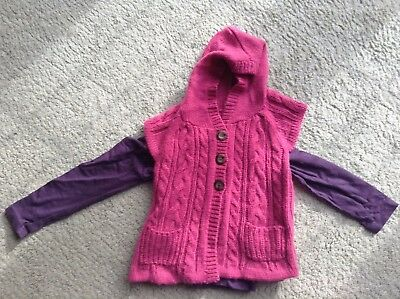 Pink and Purple Hooded Cardigan and Top Set Cherokee 3-4 Years