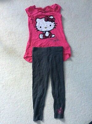 Marks and Spencer Hello Kitty Top and Leggings Age 7 Years