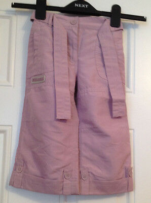 Girls purlpe capri/cropped trousers VGC age 3 yrs (height 98cm)