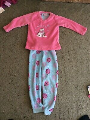 Pink and Blue Fleecy Pyjamas Age 6-7