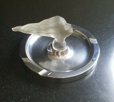 RARE ART DECO ART NOUVEAU LADY Cigar Ashtray by Negbaur