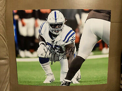 Bob Sanders Indianapolis Colts Signed 8 X 10 Autographed SB XLI Champ The Hitman