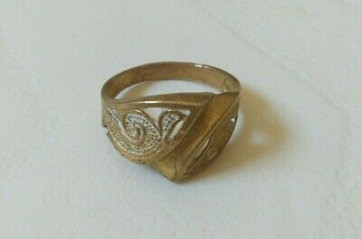 Rare Ancient Bronze Ring Viking Artifact Bronze Ring Authentic Rare Type