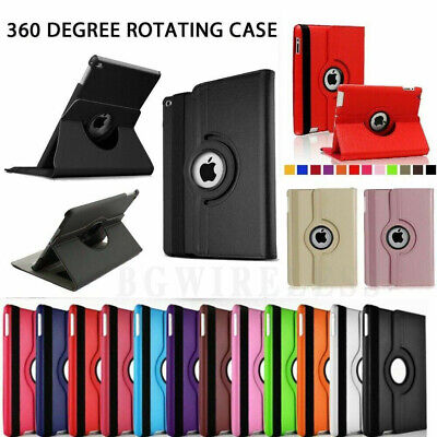 360 Rotating Leather Folio Shockproof Case Cover Stand For iPad Mini Air Pro All