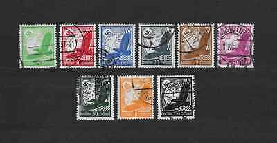 Germany   3rd Reich   eagle airmail  stamps  lot  of  9