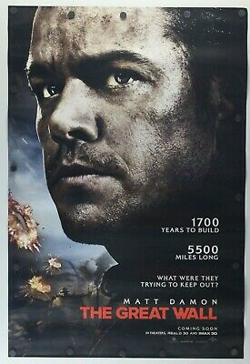"""The Great Wall 2016 Double Sided Original Movie Poster 27"""" x 40"""""""