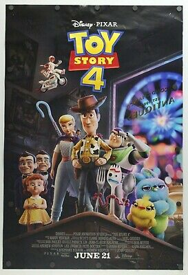 """Toy Story 4 2019 Double Sided Original Movie Poster 27"""" x 40"""""""