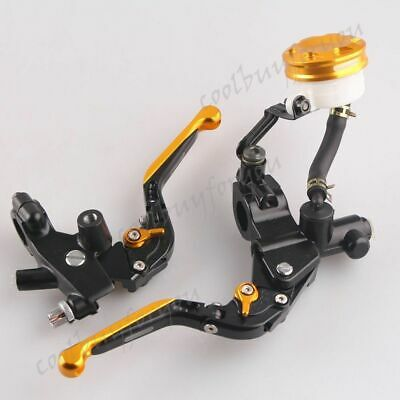 "7/8"" 22mm Handlebar Clutch Brake Lever Fluid Reservoir For Scooter Motorcycle"