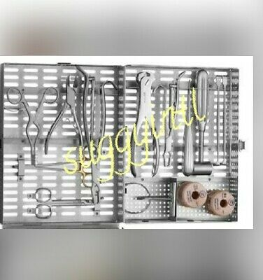 Veterinary Orthopedic Set contains 19 instruments plus a cleaning/storage...