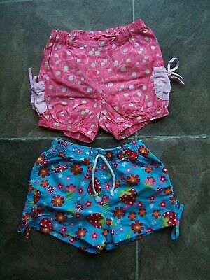 Girl's Sprout & H & T Summer Shorts x 2 Size 1 VGUC