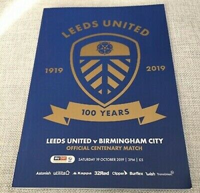 Leeds United Official 100 Year Centenary Match Day Programme Limited EditionRare