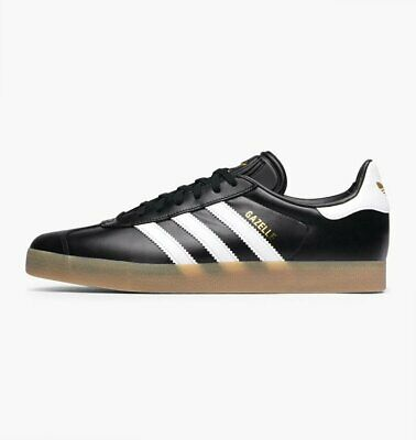 adidas Originals Mens Gazelle Trainers Black Gum Sole BZ0026