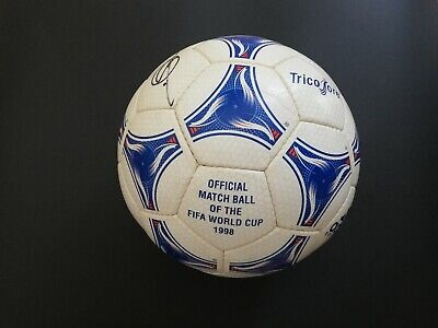 Adidas 1998 France World Cup Tricolore Official Match Ball signed Zidane Raúl