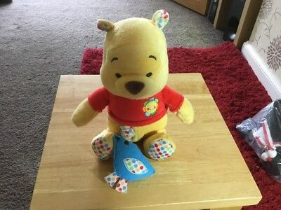 """Winnie the Pooh Lullaby Musical Pull String Cot Plush 10"""""""