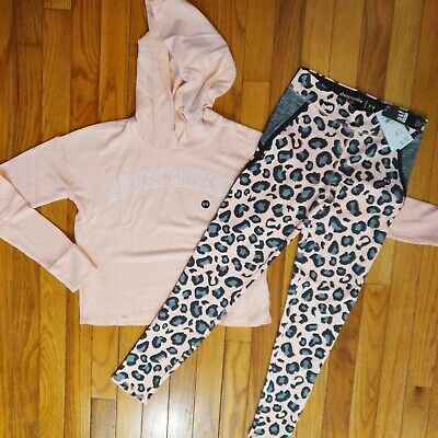 NWT Abercrombie & Fitch Kids Girl Outfit Top/Legging Size 7 8 9 10 11 12 13 14