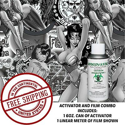 Hydrographic Film Water Transfer Hydro Dip 6Oz Activator With Fantasy Girls Kit