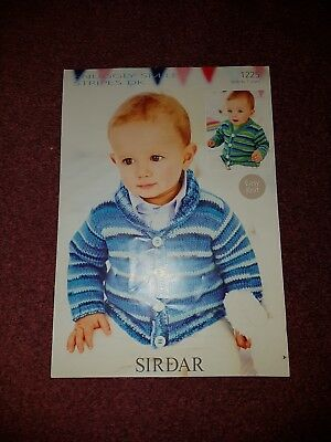 Cardigans Pattern No 1443 Sirdar Snuggly Smiley Stripes DK