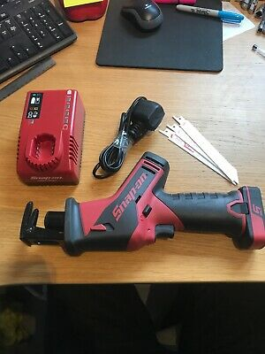 Snap On 14.4v Cordless Reciprocating Saw With Battery Charger And Blades