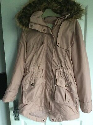 Girls Pink Fur Hooded Winter Coat From Next Age 11Yrs