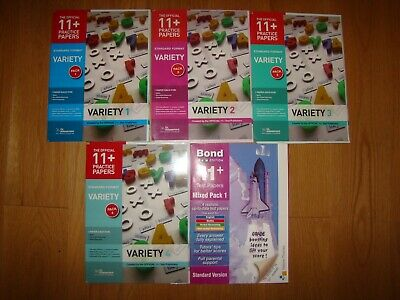 11 Plus + Books Bundle 5 books with Assesment Papers,Tests Bond,GL assessment