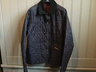 Girls Barbour navy quilted Liddesdale jacket size XL age 14-15 years