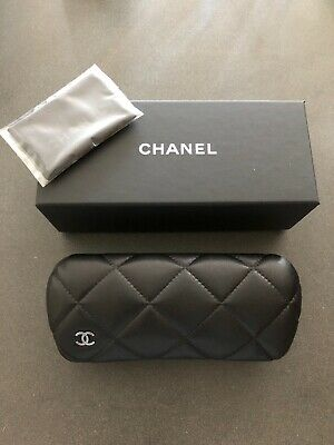 CHANEL Eyeglasses Case (New Quilted Style) With Microfiber Cloth
