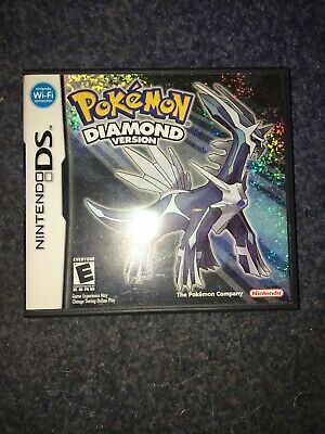 Pokemon Diamond Ds Case And Instruction Manuals Only With Collectible Poster