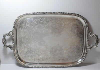 Webster Wilcox International Silver Rococo Silverplated Tray #3291