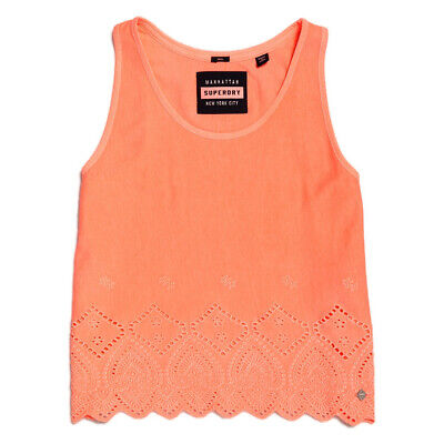 Canotta Superdry Pacific Ricamo Tank Reef