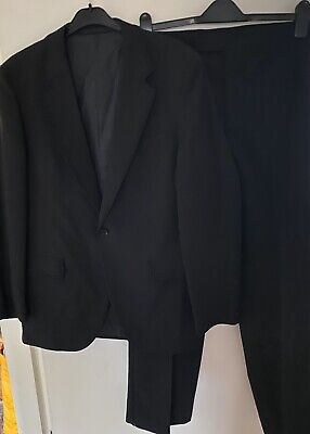 Vintage Sumrie Black Tuxedo 2 Piece Evening Suit Chest 44 Inches Waist 36 Inches