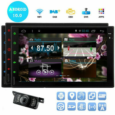 """Android Car Stereo GPS Navigation Radio Player Double Din WIFI 7"""" Inch USB SD"""