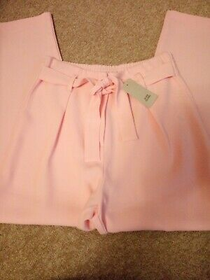 River Island Girls Baby Pink Trousers Age 12yrs BNWT