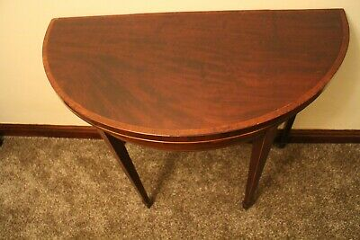 Antique George III  mahogany Fold Over games Table /card table