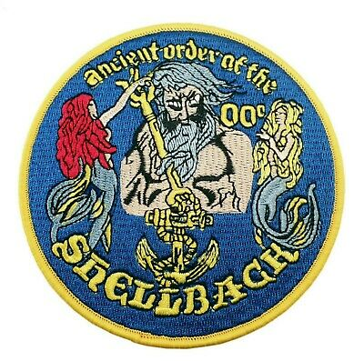 "US Navy Shellback Iron On Patch 4.5/"" x 3.5/"" Military Veteran Free Shipping 8660"