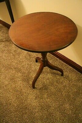 Antique George III  mahogany wine tilt table