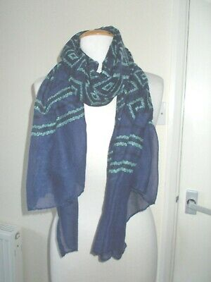 NEW Colourful Ducks Duck Print Oversized Scarf Green Lilac or Navy Blue 190x90cm