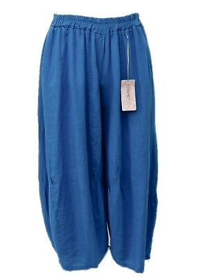 LAGENLOOK LINEN OVERSIZED HAREM BALLOON TIE DYED PANTS**CHARCOAL//PINK**Size L-XL