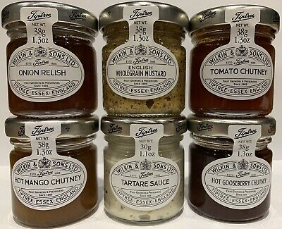 Wilkin & Sons Tiptree Savoury Selection 72 x Miniature Jars 12 Of Each Flavour