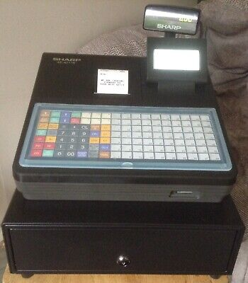 SHARP XE-A217B Electronic Cash Register with Till Rolls And With Free P&P