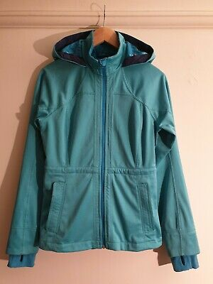 *REDUCED* LULULEMON $228 Hooded Fitted Soft-Shell Jacket/Coat, Size 6 US/8-10 UK