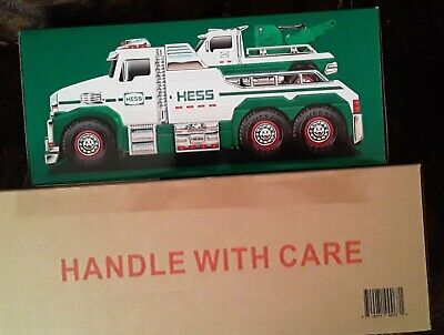 Brand New 2019 Hess Truck Rescue Team & Mini Tow Truck w/ Sounds