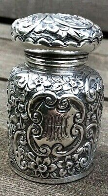 Antique Victorian Solid Sterling Silver Scent Perfume Bottle