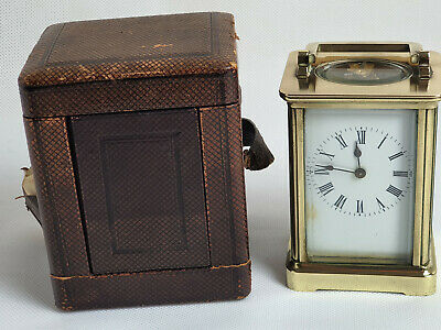 Very Old Good quality heavy carriage clock in original fitted case
